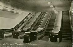 Rotterdam; Maastunnel-roltrappen.... ik krijg er nu nog de kriebels van......