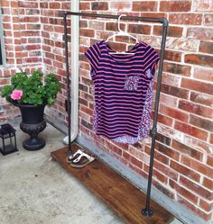 garment rack urban industrial modern clothing rack for clothes and shoe storage store fixture