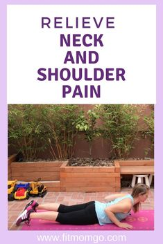 Exercises and Stretches for Neck and Shoulder Tension - Fit Mom Go Neck And Shoulder Exercises, Neck Exercises, Neck And Shoulder Pain, Neck Pain, Stretches, Natural Add Remedies, Herbal Remedies, Shoulder Tension, Strength Workout