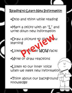 FREEBIE! Non-fiction reading strategies