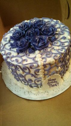 A purple rose cake by christinascakery.com