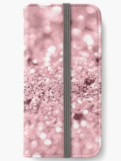 """Rose Gold Blush Girls Glitter #1 #shiny #decor #art"" iPhone Wallets by anitabellajantz 