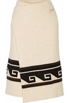 Isabel Marant Sondra printed knitted wrap skirt | THE OUTNET