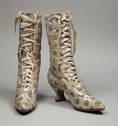 Pair of Woman's Boots E. Hayes, Inc., c. 1889.