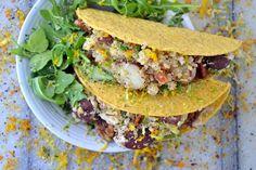 Dinner Recipe Packed With Protein: Zesty Quinoa Arugula Tacos #glutenfree