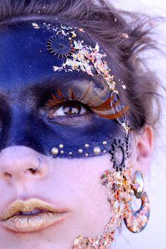 Makeup Halloween Fairy Avant Garde 25 Super Ideas Make-up Halloween Fee Avantgarde 25 Super Id Steampunk Makeup, Steampunk Dress, Eye Makeup, Fairy Makeup, Mermaid Makeup, Beauty Makeup, Fashion Editorial Makeup, Beauty Editorial, Avant Garde Hair