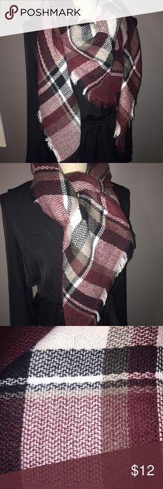 Super soft scarf wrap NEW in package Super soft scarf wrap NEW in package. Maroon/ Black/ white colors. & Other Stories Accessories Scarves & Wraps