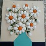 "95 Likes, 11 Comments - Taş Boyamanbht (@nbhttrmpc) on Instagram: ""Papatya gibisin beyaz ve ince#taşboyama#taşboyamasanatı#stoneart#paintedroks#beatifullstone…"""