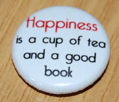 1 INCH Button Badge CUTE READING DRINK COFFEE AND READ BOOKS 25MM
