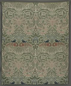 Peacock and Dragon, 1878  designed by William Morris (British, 1834-1896)  weft-faced compound twill; wool, Overall - h:206.60 w:174.70 cm (h:81 5/16 w:68 3/4 inches). Gift of Mrs. Philip White 1953.330