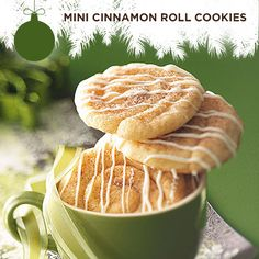 Taste of Home's Cookie Countdown: Mini Cinnamon Roll Cookies! Intense cinnamon flavor fills this yummy cross between a snickerdoodle and a cinnamon roll.  —Mary Gauntt, Denton, Texas