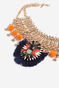 Mega Tassel Collar Necklace