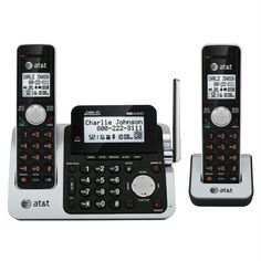 +dect 6.0 Digital Two Handset Answering Dect 6.0 Digital Technology Unsurpassed Range Redefining Long Range Coverage And Clarity Pushtotalk For Instant And Easy Communication Between Handsets High Contrast White Backlight Hd Audio Taking Sound Quality To The Next Level Caller Id Announce Hear The Name Of The Incoming Caller Without Looking At The Phone Three Handset System Conference Between An Outside Line And Up To 4 Handsets Pushtotalk For Instant And Easy Communication Between Handsets…