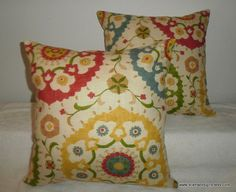 pillow coverfree us shipping set of two 18 inch richloom suzani print in