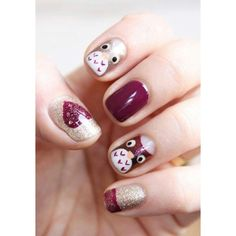 33 Earthy and Stylish Fall Nail Art Ideas ❤ liked on Polyvore featuring beauty products, nail care, nail treatments, nails and makeup