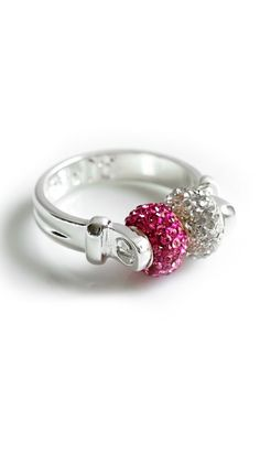 The Crystal & Pink Double Swarovski Ring.