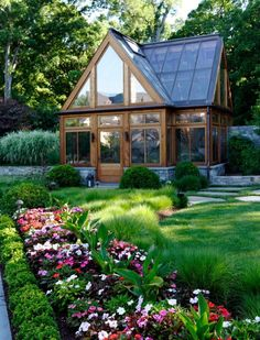 Gorgeous green house.