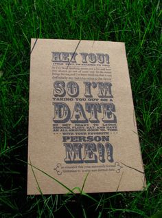 Printable date night invitation