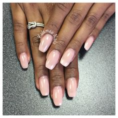 Nude natural nails with a cover acrylic