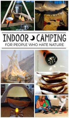 These indoor camping ideas are so fun!!