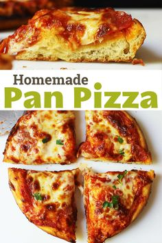 Pan pizza pizza is a treat! Learn how to make deep dish pizza with all your favorite toppings. Making Homemade Pizza, Pizza Ingredients, Favourite Pizza, Pizza Recipes, Baking Recipes, Deep Dish, Good And Cheap, Dough Recipe, Cooking Time