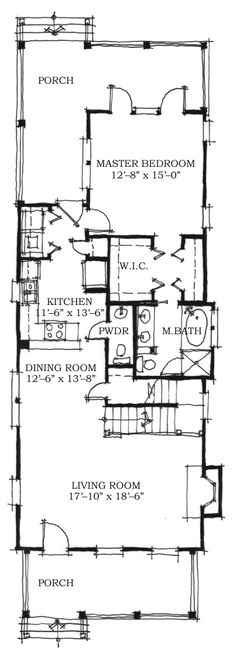 Historic Southern House Plan   Southern House Plans  House    Historic Southern Level One of Plan