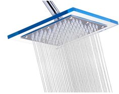 Luxury Rain Square Stainless Steel Shower Head On Sale.  Everyone needs a little luxury! - A Thrifty Mom