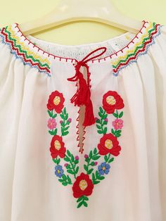 Hungarian Kalocsa Floral Embroidered Wearable by TreasuryCoffer
