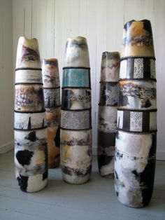 Ceramic-Vases... Can't trace this back to the origin to give credit...But these are really beautiful!
