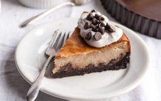 Chocolate Chip Cheesecake With Chocolate Cookie Crust [Vegan]