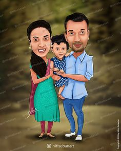 Family caricature, Custom Caricatures illustration from photos, Indian caricature, Caricature Wedding Gifts, Caricature Invite, guests sign in board, kerala couples, baby girl, nitisebanart Wedding Caricature, Invite, Invitations, Caricatures, Kerala, Wedding Gifts, Sign, Photo And Video, Couples