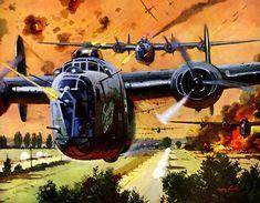 August 1, 1943: B-24s over Ploesti, Romania   Robert McCall