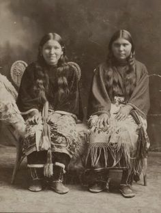 Two Comanche Indian girls taken in 1895