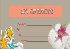 27 Best Spa Gift Certificate Templates Images Gift Certificates