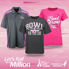 BOWL STRONG this February with these stylish shirts! Help spread awareness and let others know that you're helping to end breast cancer forever.  Get yours here: http://t.bowl.com/1e4s66n  25% of your Bowl for the Cure® purchase goes to research and awareness!