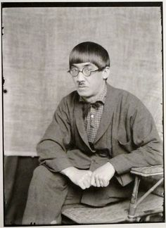 Man Ray: Tsuguharu Foujita (藤田 嗣治 Fujita Tsuguharu, November 27, 1886 – January 29, 1968), Paris, 1922