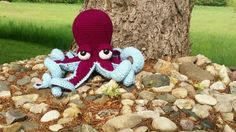 Octopus Plushie Kawaii Octopus Stuffed Animal by superflyhel