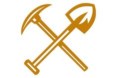"""Pick Axe Shovel Crossed Retro - Illustrations. Illustration of a pick axe crossed with shovel viewed from front set on isolated white background done in retro style. <a class=""""pintag"""" href=""""/explore/illustration/"""" title=""""#illustration explore Pinterest"""">#illustration</a> <a class=""""pintag searchlink"""" data-query=""""%23PickAxeShovelCrossed"""" data-type=""""hashtag"""" href=""""/search/?q=%23PickAxeShovelCrossed&rs=hashtag"""" rel=""""nofollow"""" title=""""#PickAxeShovelCrossed search Pinterest"""">#PickAxeShovelCrossed</a>"""