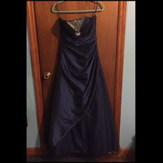 Blue Princess Prom Dress Looks like a ball gown. Only worn once. In great condition.Make an offer.  Dresses Prom