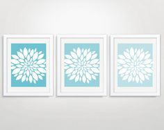 Dahlia Art Prints Modern Flower Wall Art Floral Art