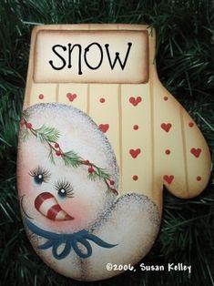 Mitten (Snow) ePattern #162006 Christmas Ornaments To Make, Christmas Wood, Christmas Signs, Christmas Pictures, Christmas Snowman, Christmas Decorations, Santa Ornaments, Snowman Crafts, Holiday Crafts