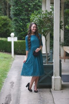 modest fashion, modest bridesmaid dresses, modest clothing, modest dresses, modest skirt, modest top, modest apparel, hijab, long sleeves, 3/4 sleeves, modest swimwear, ruffles and lace, long dress, modest swimsuit, bow dress, lace dress, elegant, victorian, vintage, bridesmaid, wedding, flower girl, plus size, jade teal lace Graceful in Lace dress