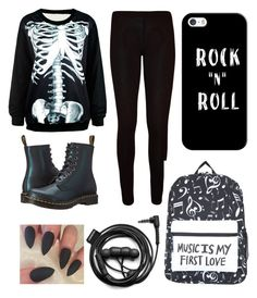 """""""untitled #6"""" by somethingreckless ❤ liked on Polyvore featuring WearAll, Dr. Martens, Casetify and Forever 21"""