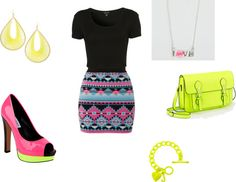 """neon"" by shreya-s on Polyvore"