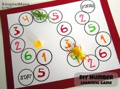 DIY Children's : DIY Number Learning Game
