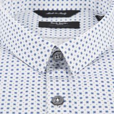 Paul Smith Men's Shirts | Sky Blue Tie Print Kensington Shirt