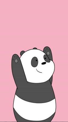 Cute Panda Wallpaper, Funny Phone Wallpaper, Flowery Wallpaper, Bear Wallpaper, Kawaii Wallpaper, Cartoon Wallpaper, We Bare Bears Wallpapers, Panda Wallpapers, Cute Wallpapers