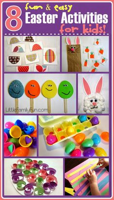 FUN & EASY Easter crafts & activities for kids! Cute ideas!!