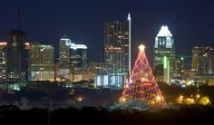 Zilker Christmas Tree, Dec. 2-31  Photo from 365ThingsAustin.com  Sure hope Caroline will see this!  Beautiful!