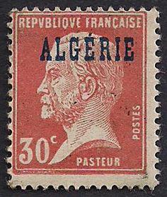Estampilla Argelia, 1924 - Louis Pasteur San Martin Argentina, Luis Pasteur, Queen Wilhelmina, Belgian Congo, Victoria Canada, Inca Empire, King Edward Vii, India Map, Stamping Up